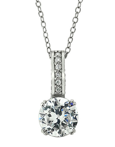 LORD & TAYLORSterling Silver and Cubic Zirconia Solitaire Pendant Necklace