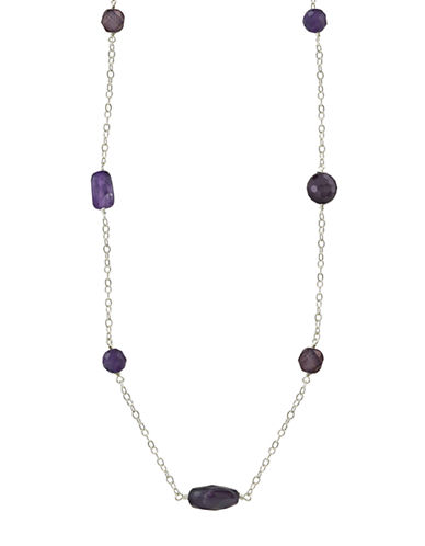 LORD & TAYLOR Sterling Silver and Amethyst Necklace