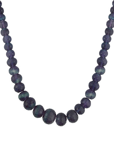 LORD & TAYLOR Graduated Rainbow Fluorite Bead Necklace
