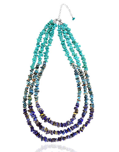 LORD & TAYLOR Tri-Stand Beaded Necklace