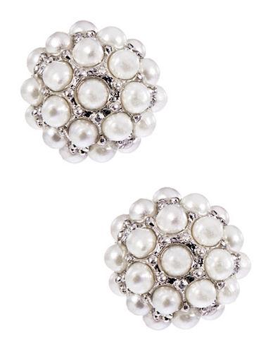 LORD & TAYLORPearl Stone Stud Earrings