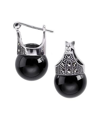 DESIGNSMarcasite Pavé Onyx Drop Earrings