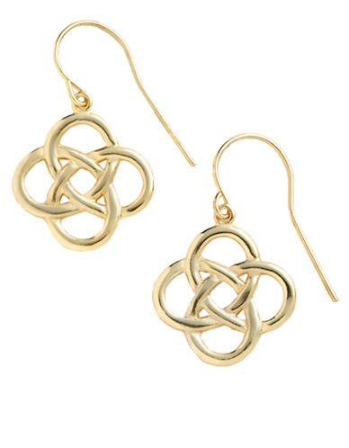 LORD & TAYLOR18 Kt Gold Over Sterling Silver Celtic Knot Drop Earrings