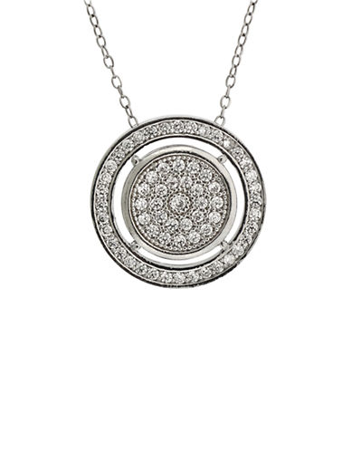 LORD & TAYLORSterling Silver and Cubic Zirconia Circular Pendant Necklace