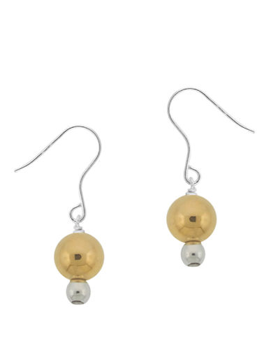 LORD & TAYLOR Two-Tone Beaded Drop Earrings