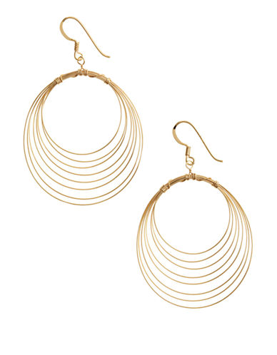 LORD & TAYLOR18 Kt Gold Over Sterling Silver Orbital Wire Earrings