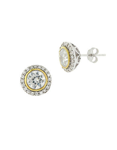 LORD & TAYLOR Cubic Zirconia Floral Pierced Earrings