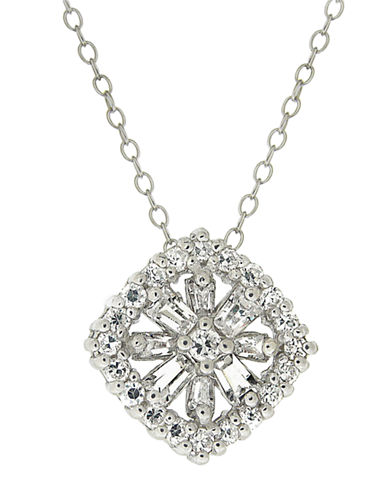 LORD & TAYLORCubic Zirconia Flower Pendant Necklace