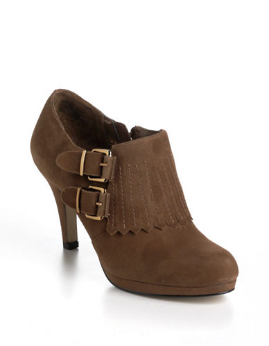 Shop Anne Klein online and buy Anne Klein Warrena Suede Ankle Boots shoes online