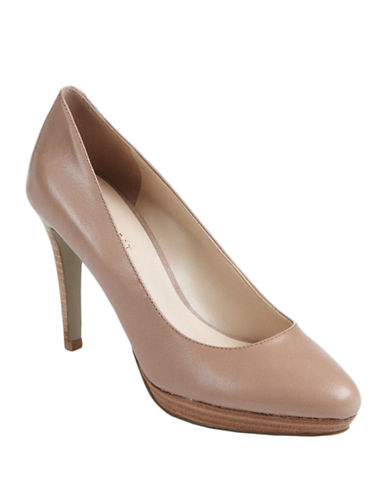 NINE WEST Beautie Leather Platform Pumps