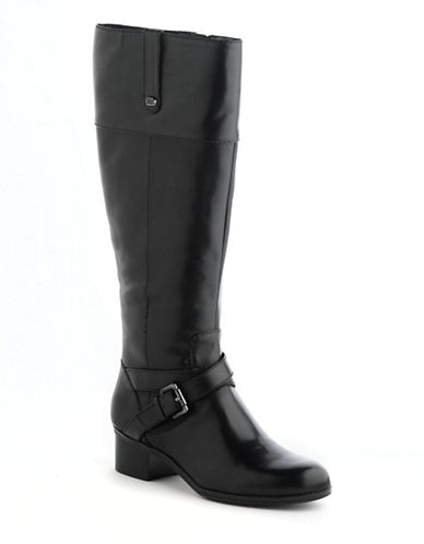 Bandolino Caydince Wide Calf Leather Riding Boots