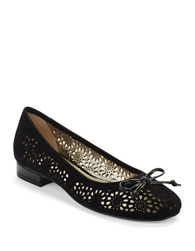 Buy Palena Suede Cut Out Flats by Anne Klein online