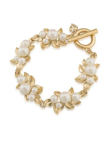 CAROLEEFaux Pearl Toggle Bracelet