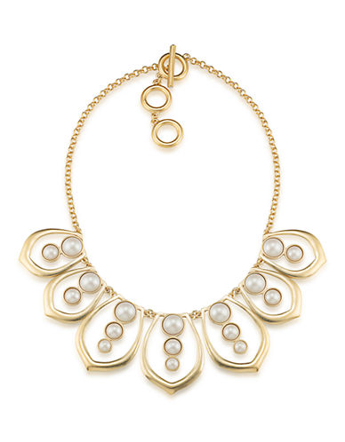 CAROLEE Oyster Bay Faux Pearl Petal Necklace