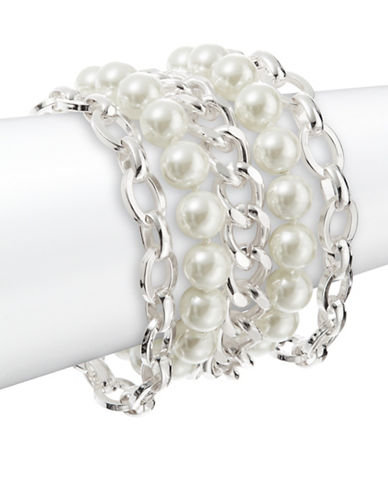 LAUREN RALPH LAURENFaux Pearl Chain Bracelet