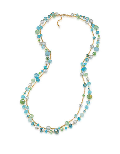 CAROLEE Niagara Mist Double Layered Necklace