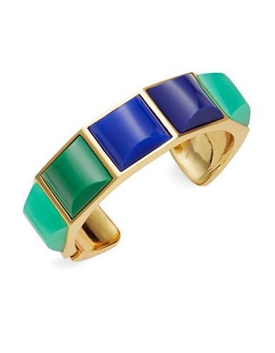 Trina Turk Goldtone Blue and Green Cuff Bracelet
