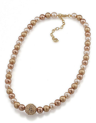 CAROLEEFaux Pearl Single Strand Necklace