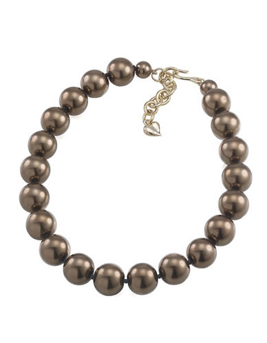 CAROLEE Charcoal Faux-Pearl Necklace