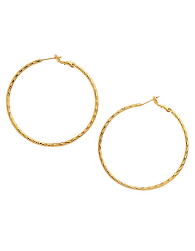 A.B.S. BY ALLEN SCHWARTZTextured Hoop Earrings