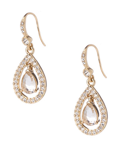 CAROLEE Gold-Tone Crystal Drop Earrings