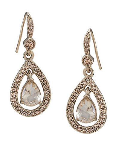 CAROLEE Gold-Tone Topaz Crystal Drop Earrings