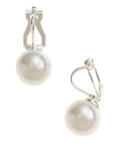 LAUREN RALPH LAUREN Faux Pearl Clip-On Earrings