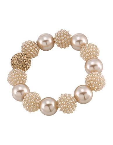 CAROLEEPearl and Glass Stone Bracelet
