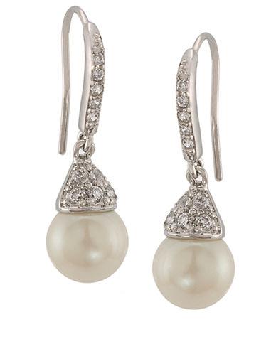 CAROLEEThe Looking Glass Pearl Drop Earrings