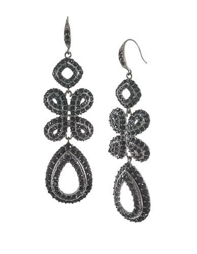 CAROLEEPave Crystal Pendant and Teardrop Earrings