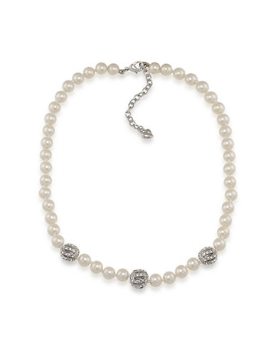 CAROLEE Bowquet Pearl & Crystallized Bead Necklace