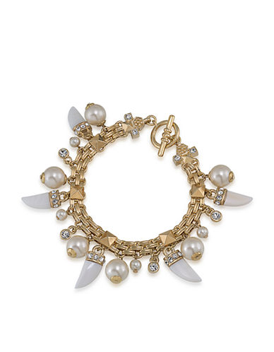 CAROLEE Lux Party Crasher Pearl and Spike Bracelet