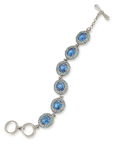 CAROLEE Nassau Nights Oval Link Crystal Bracelet