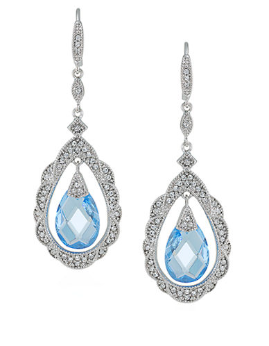 CAROLEENewport Nouveau Oval Pendant and Crystal Drop Earrings