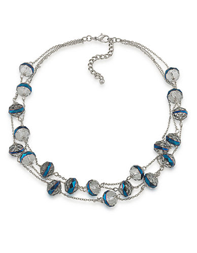 CAROLEE Cosmic Reflections Blue Rondelle Illusion Necklace