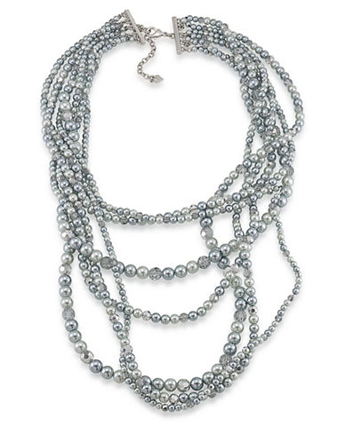 CAROLEE Cosmic Reflections Seven Row Tonal Faux Pearl Necklace
