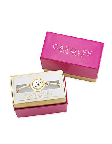 CAROLEEWord Play B Gold Tone Bangle Bracelet