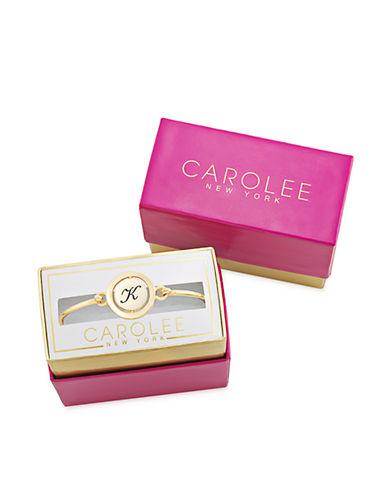 CAROLEEWord Play K Gold Tone Bangle Bracelet