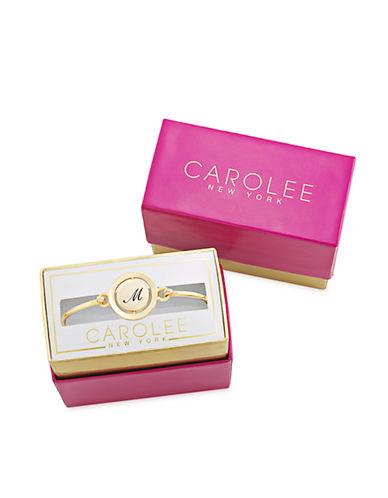 CAROLEEWord Play M Gold Tone Bangle Bracelet