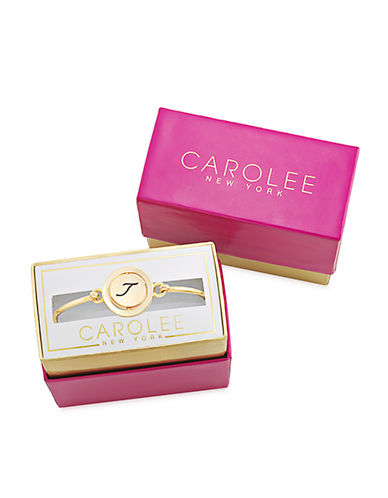 CAROLEE Word Play T Gold Tone Bangle Bracelet