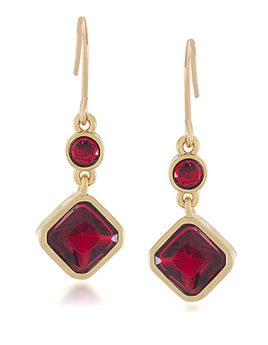 CAROLEE Berry Chic Double Drop Earrings