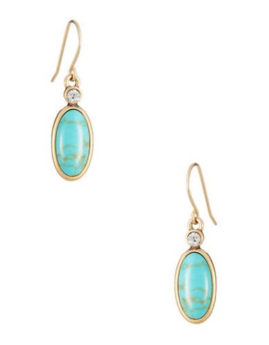 LAUREN RALPH LAURENTurquoise Oval Drop Earrings