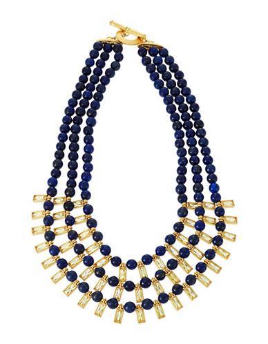 LAUREN RALPH LAUREN Triple-Strand Lapis Beaded Necklace