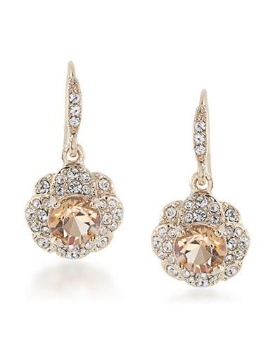 CAROLEEGold-Tone Glitz Flower Drop Earrings