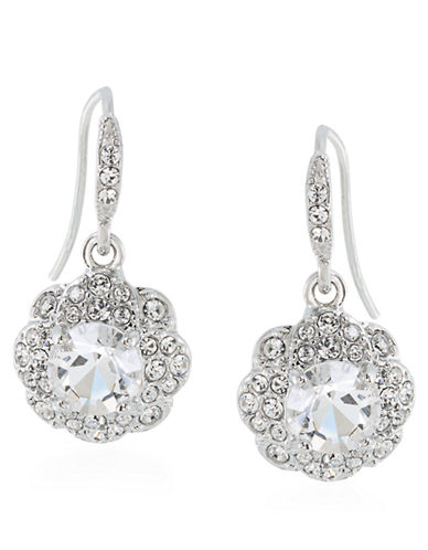 CAROLEE Holiday Cocktails Glitz Flower Drop Earrings