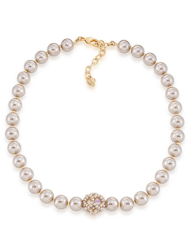 Carolee Champagne Bubbles Pearl Necklace