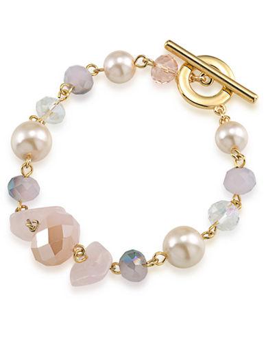 CAROLEEGemstone Garden Mixed Bead Bracelet