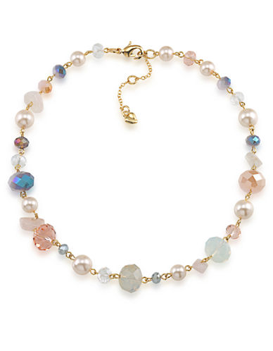 Carolee Goldtone Faux Pearl and Bead Necklace
