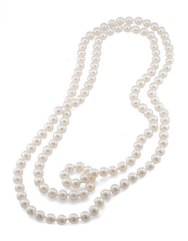 CAROLEE10MM 72 Inch White Pearl Rope Necklace