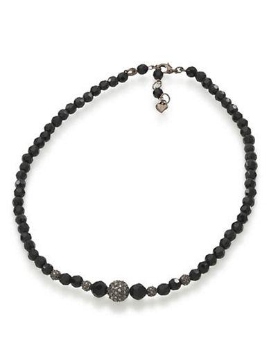 CAROLEEFaceted Jet Crystal Necklace